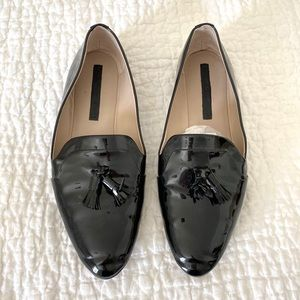 Zara Patent Leather Loafer with Tassels
